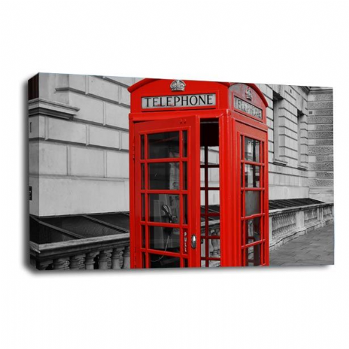 Red Phone Box Canvas Wall Art Print London City Picture